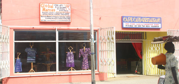 The new Global Mamas Store is located in the heart of Cape Coast.