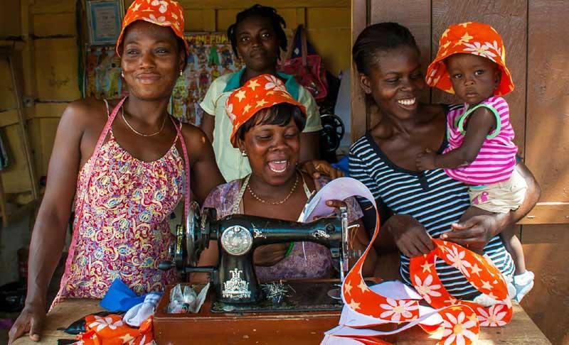Grace Osabutey Global Mamas Batiker in Ghana West Africa
