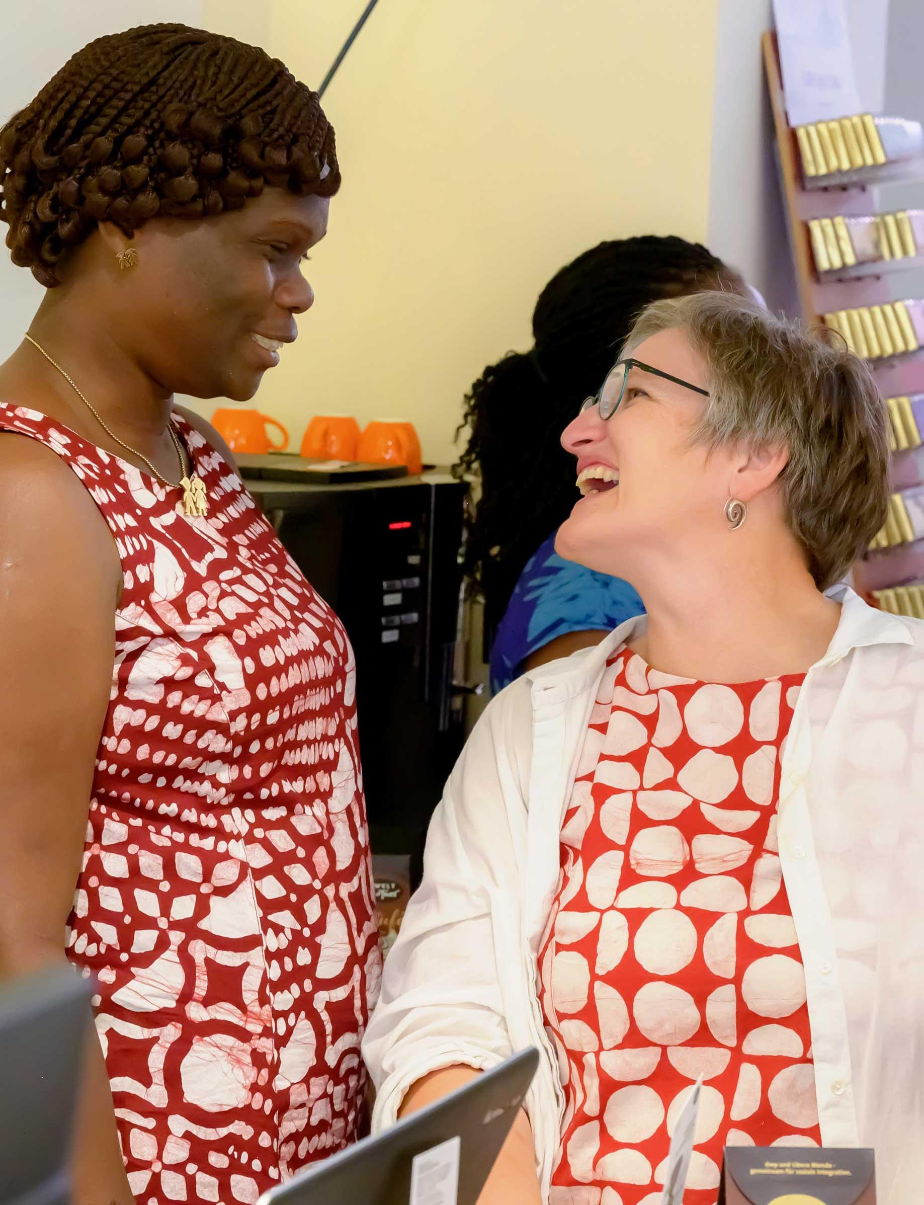 Global Mamas European Wholesale Partner Gabi Ludwig of handtrade
