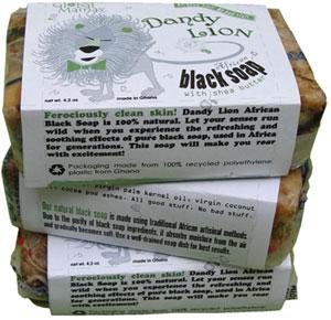 Dandy Lion Black Soap Label