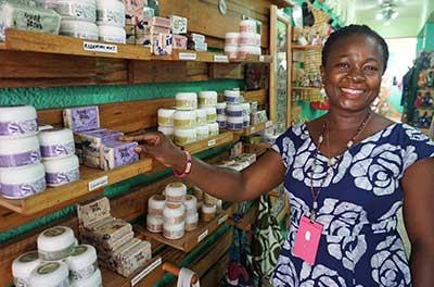 Global Mamas Fair Trade Shop Osu Accra Ghana