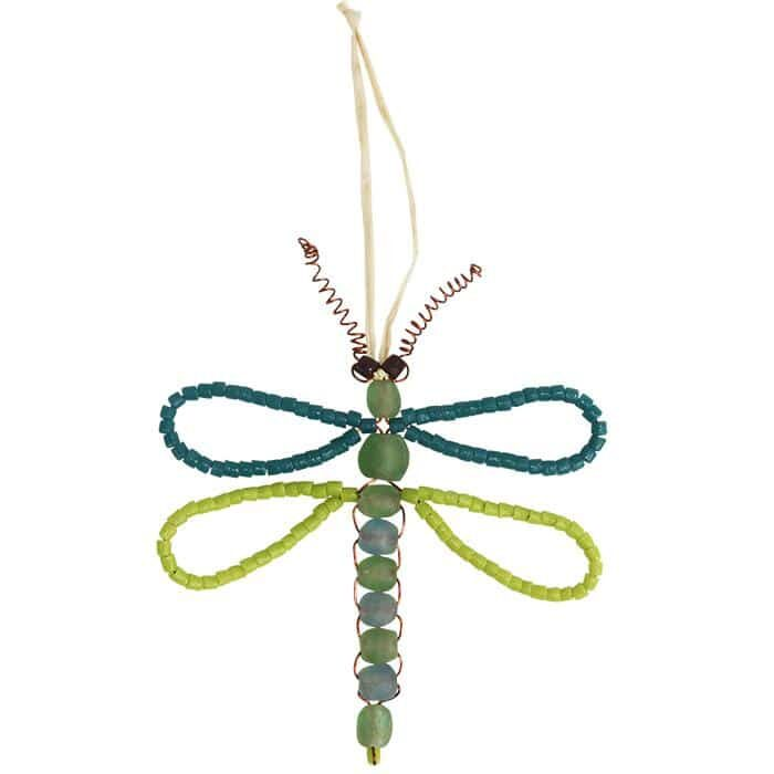 Teal dragonfly ornament