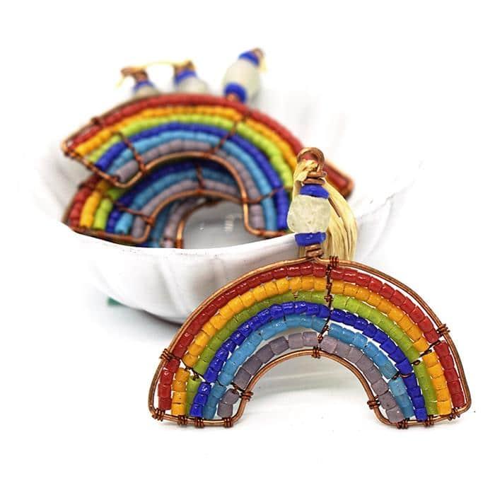 Multiple rainbow ornaments