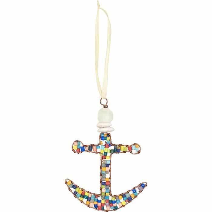 Rainbow anchor ornament