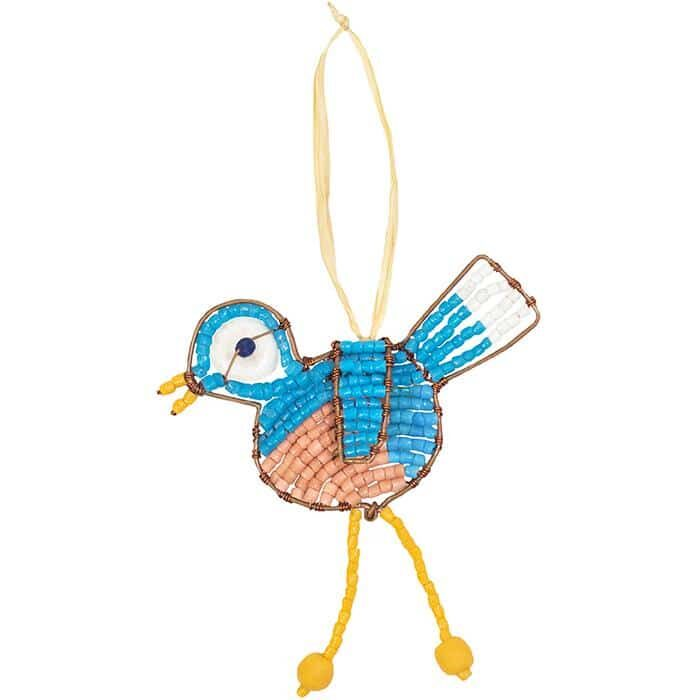 Blue bird ornament