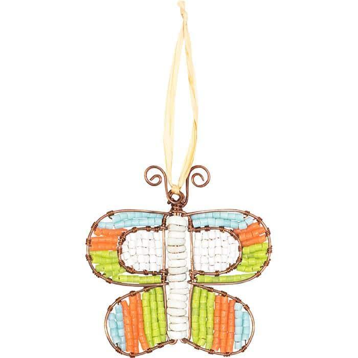 Orange butterfly ornament