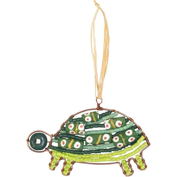 Green turtle ornament